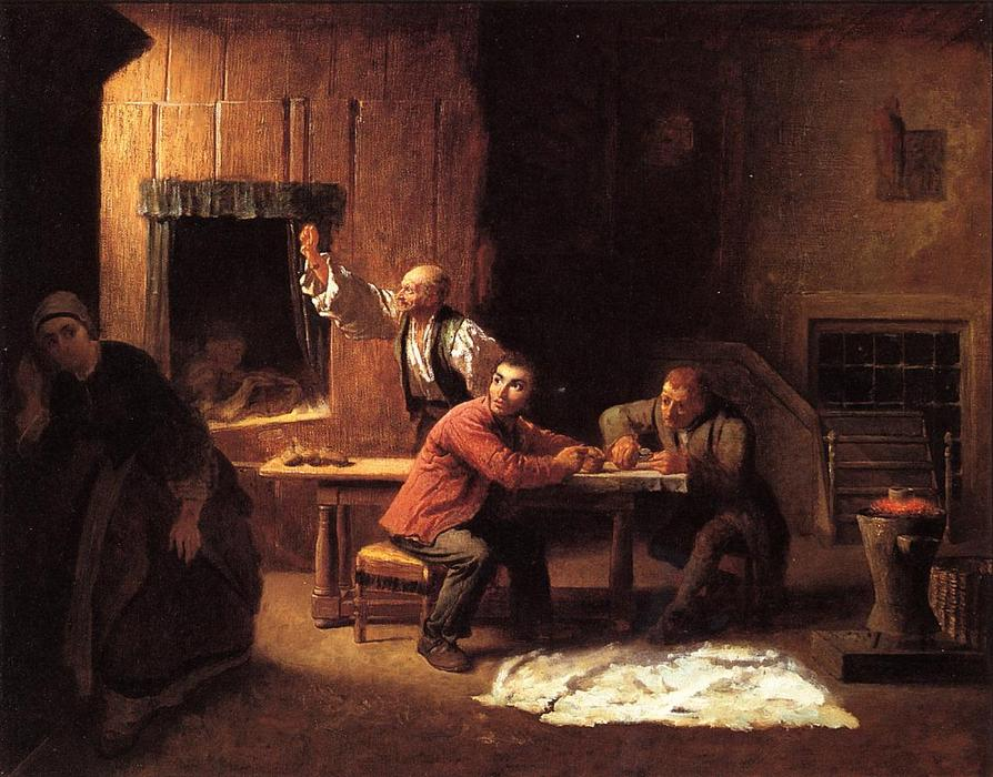 Os Falsificadores, 1853 por Jonathan Eastman Johnson (1824-1906, United Kingdom) | Copy Pintura | WahooArt.com