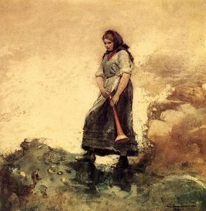 Winslow Homer - filha de costa guarda