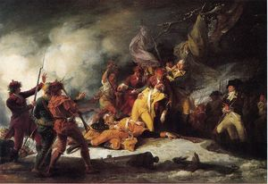 John Trumbull - A morte do general Montgomery no ataque no Quebec, 31 de dezembro de 1775