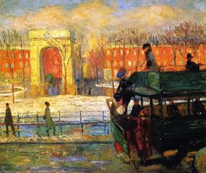 William James Glackens - Descendo do ônibus