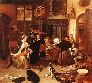Jan Steen - O agregado familiar Dissolute
