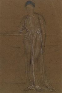 James Abbott Mcneill Whistler - Figura drapeado, pe