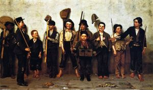 John George Brown - vestir desfile