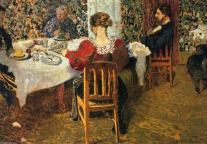 Jean Edouard Vuillard - The End of Breakfast at Senhora Vuillard