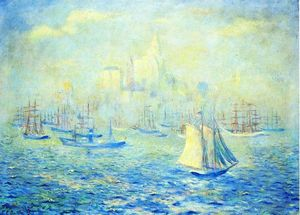 Theodore Earl Butler - Entrando New York Harbor
