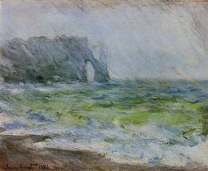 Claude Monet - etretat no chuva