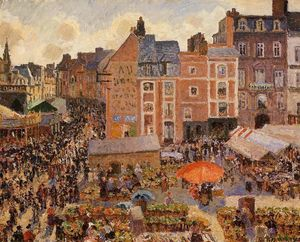 Camille Pissarro - A Feira, Dieppe: Sunny Afternoon