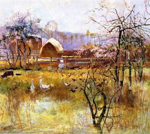 Charles Edward Conder - a fazenda , Richmond , new south Wales