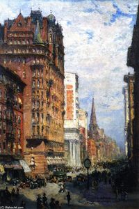 Colin Campbell Cooper - Fifth Avenue, New York City