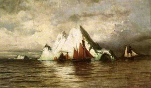 William Bradford - Barcos de pesca e Icebergs