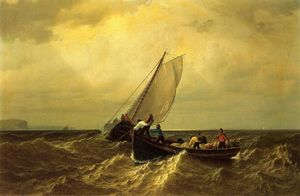 William Bradford - Barcos de pesca na Baía de Fundy