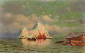 William Bradford - pescaria barcos na costa de labrador