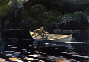 Winslow Homer - Pesca no Adirondacks