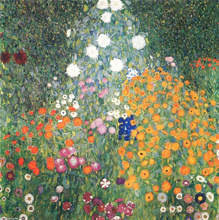 Resultado de imagem para jardim de flores klimt