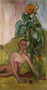 Edvard Munch - The Flower of Pain, girassol Motif