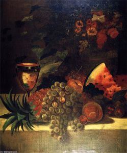William Merritt Chase - fruit and flower vida ainda ( B )
