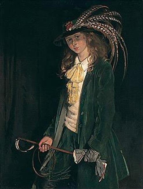 Gardenia St George com colheita de equitação por William Newenham Montague Orpen (1878-1931, Ireland)