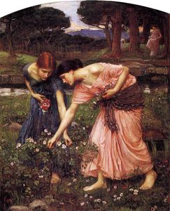 John William Waterhouse - Rosebuds do YE recolhimento quando o YE maio