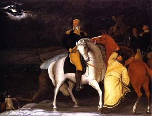 Edward Hicks - george washington com o seu Exército Cruzando o Delaware . . . , ''''