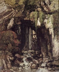 Gustave Courbet - The Cave Giants de Saillon Suíça