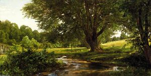 William Trost Richards - Glade em Oldmixon, Chester County, Pennsylvania