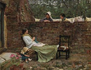 John William Waterhouse - Fofoca