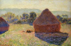 Claude Monet - Grainstacks na Luz Solar meiodia