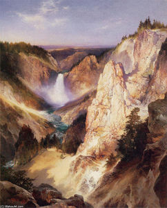 Thomas Moran - Great Falls de Yellowstone