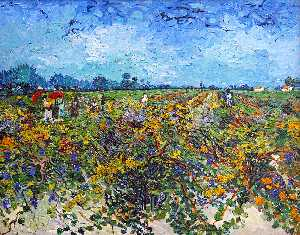Vincent Van Gogh - The Vineyard Verde
