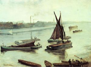 James Abbott Mcneill Whistler - Cinza e prata: Old Battersea Alcance
