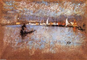 James Abbott Mcneill Whistler - O Guidecca -   Inverno  Cinzento  e  azul