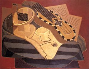 Juan Gris - A guitarra com Inlay