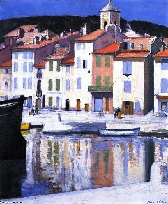 The Harbour, Cassis, pintura por Francis Campbell Boileau Cadell (1883-1937)