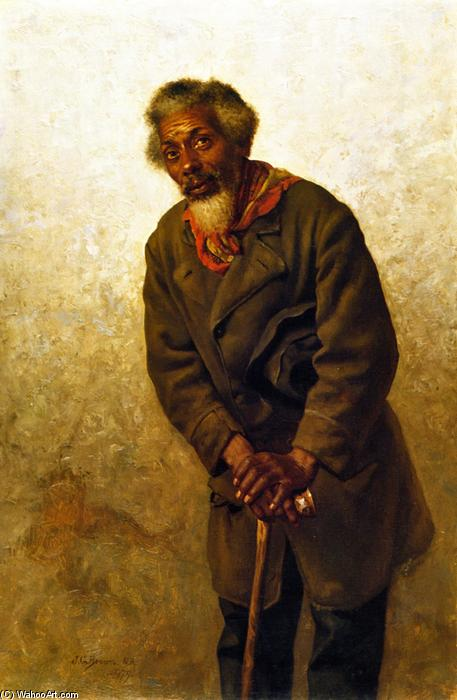 Hard Times, Massa!, óleo sobre tela por John George Brown (1831-1913, United Kingdom)