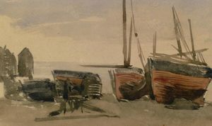 James Abbott Mcneill Whistler - Hastings : pescaria barcos