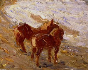 Franz Marc - Horses by the Sea