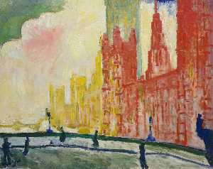 André Derain - As Casas do Parlamento e Ponte de Westminster