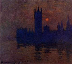 Claude Monet - Casas do Parlamento do sol