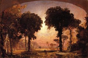 Jasper Francis Cropsey - Ideal Landscape: Homenagem a Thomas Cole