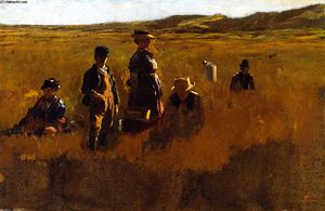 Jonathan Eastman Johnson - no campos