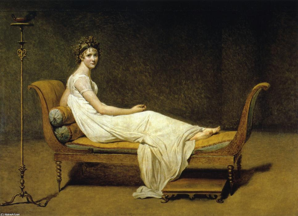 Juliette Recamier, óleo sobre tela por Jacques Louis David (1748-1800, France)