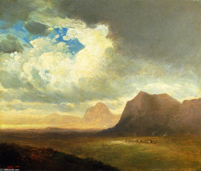 Paisagem com Cliffs, original por John Williamson (1945-1885, United States)