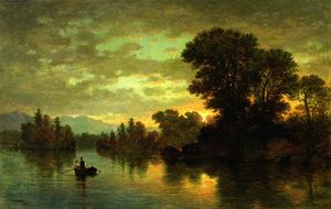 Christopher Pearse Cranch - Casal Paisagem com Boating