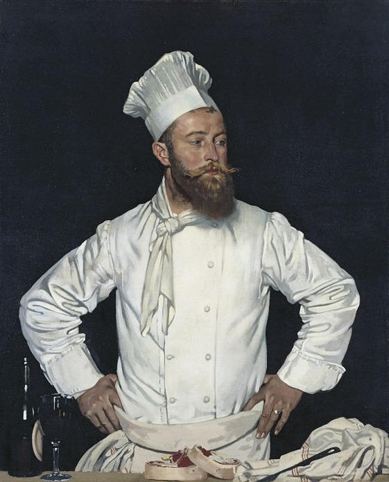 Le Chef de l Hôtel Chatham, Paris, óleo sobre tela por William Newenham Montague Orpen (1878-1931, Ireland)