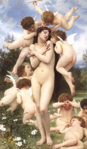 William Adolphe Bouguereau - Le Printemps (também conhecido como The Return of Spring)