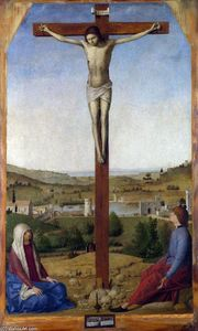 Antonello Di Giovanni Di Antonio (Antonello Da Messina) - Crucificação