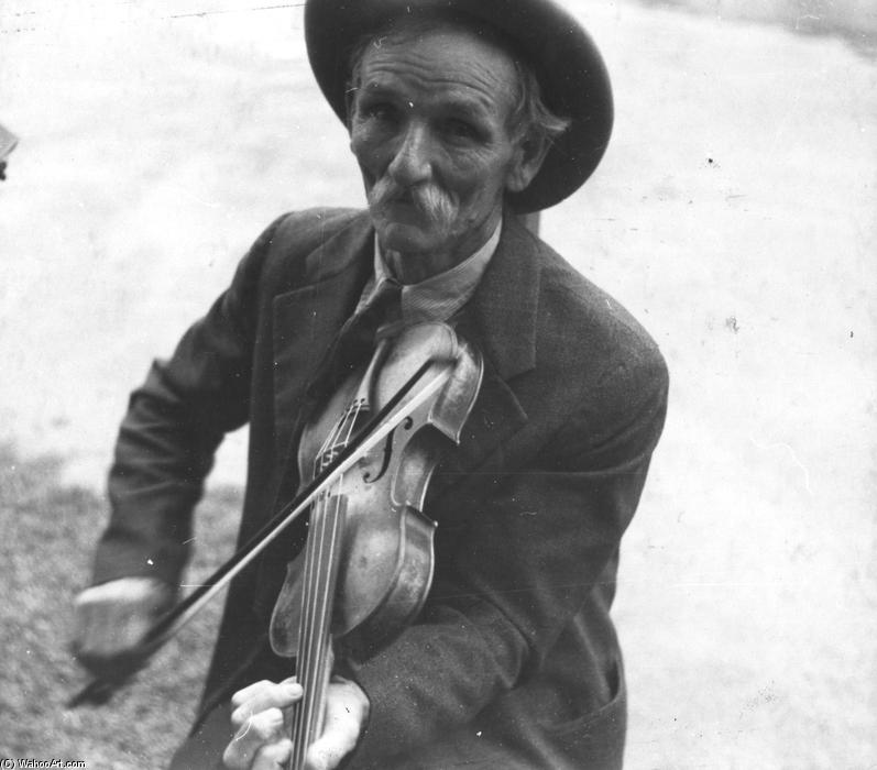 Fiddlin Bill Henseley, Montanha Fiddler, 1937 por Benjamin Shahn (1898-1969, Lithuania) | WahooArt.com