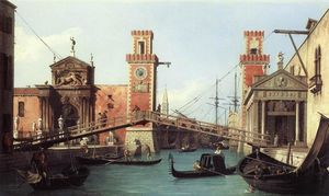 Giovanni Antonio Canal (Canaletto) - Visto do a entrada para o arsenal