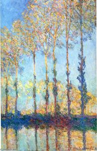 Claude Monet - Choupos sobre os bancos do Epte