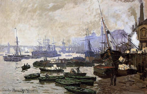 Claude Monet - barcos no piscina de londres